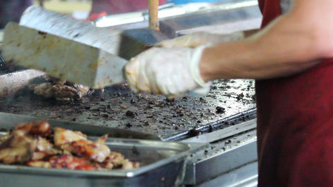 Grill. Barbecues stock footage