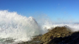 Crashing waves against reef Footage