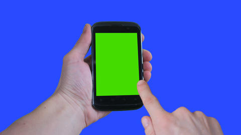 hand green screen touch phone Footage