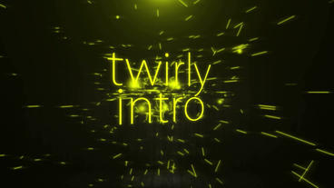 TWIRLY INTRO After Effects Template