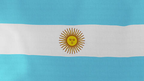 Loopable: Flag of Argentina Footage