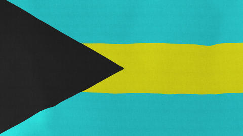 4K Loopable: Flag of Bahamas Footage