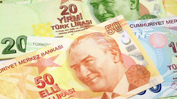 Turkish Banknotes Footage