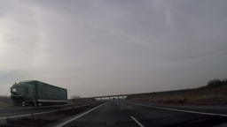 fast driving through non urban highway Footage