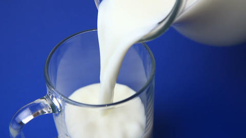 Pouring Milk stock footage