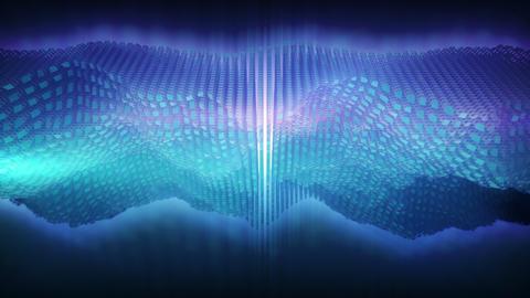 Space wave form. 3D audio equalizer Animation