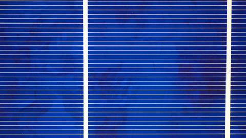 Polycrystal Solar Cell, Motorized Dololly Shot Footage
