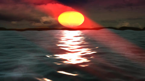 Beautiful Light Sunshine On Sea Island stock footage