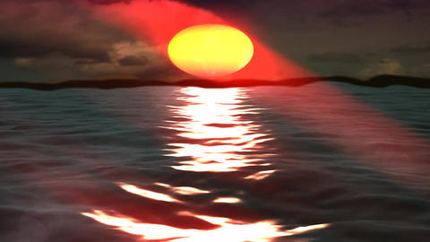 Beautiful Light Sunshine on Sea island Stock Video Footage