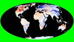 NASA NEO - LSTA. Molleweide Animation