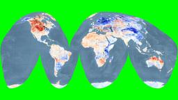 NASA NEO - LSTA. Bathymetry. Goode. Graticule Animation