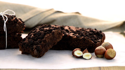 Tasty Chocolate Brownies stock footage