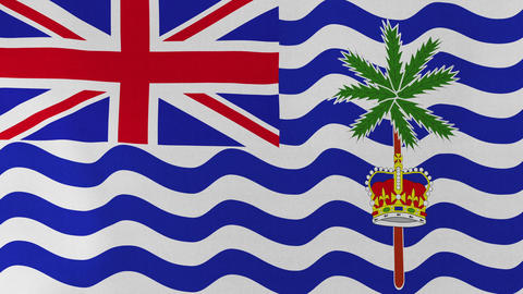 [loopable] Flag Of British Indian Ocean Territory stock footage