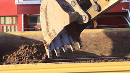 Crawler dozer working at the construction site Footage