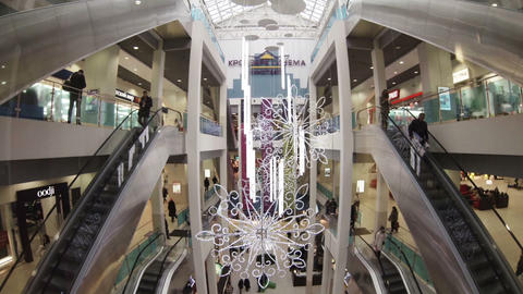 Elevator in the mall Footage