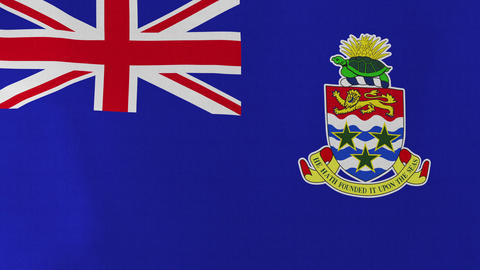 4K Loopable: Flag of Cayman Islands Footage