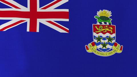 4K Loopable: Flag of Cayman Islands Footage