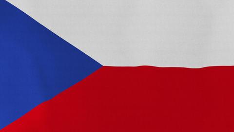 Loopable: Flag of Czech Republic Footage
