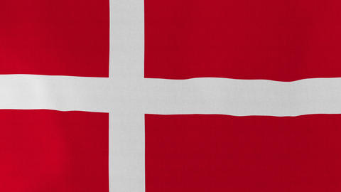 Loopable: Flag of Denmark Footage