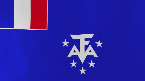 4K Loopable: Flag of French Southern and Antarctic Lands Footage