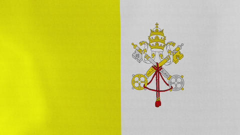 [loopable] Flag Of Vatican City State stock footage