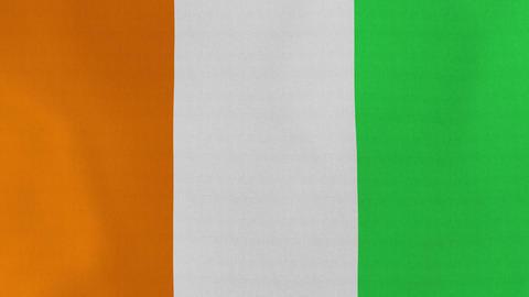 4K Loopable: Flag of Cote d'Ivoire Live Action