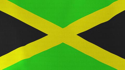 4K Loopable: Flag of Jamaica Footage