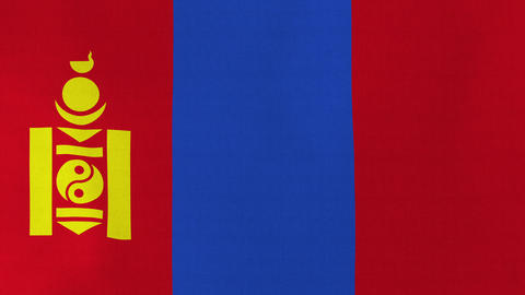 Loopable: Flag of Mongolia Footage