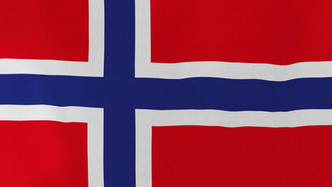 Loopable: Flag of Norway Footage