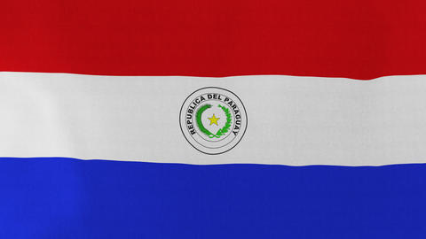 Loopable: Flag of Paraguay Footage