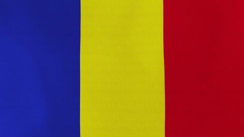 Loopable: Flag Of Romania stock footage