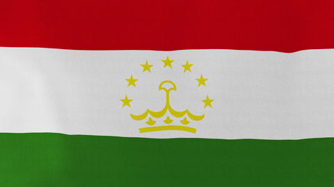 Loopable: Flag of Tajikistan Footage