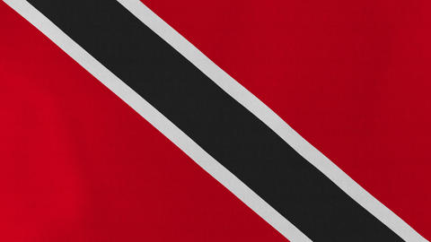 4K Loopable: Flag of Trinidad and Tobago Footage
