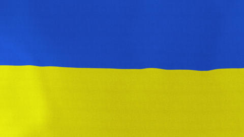 4K Loopable: Flag of Ukraine Footage