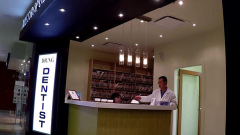 Dentist Reception Station stock footage