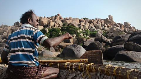 India ferryman Footage