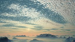The rapid flight over the mountain peaks Animation
