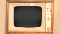 Retro TV With Alpha Channel stock footage
