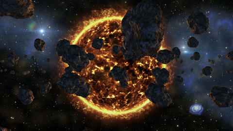 4k UHD space galaxy asteroids supernova expl 11607 Animation