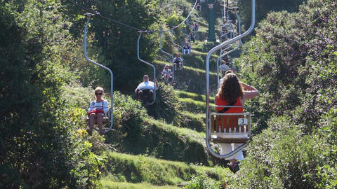 View from the Mount Solaro Chair lift on the Isle of Capri (5 of 7) Footage