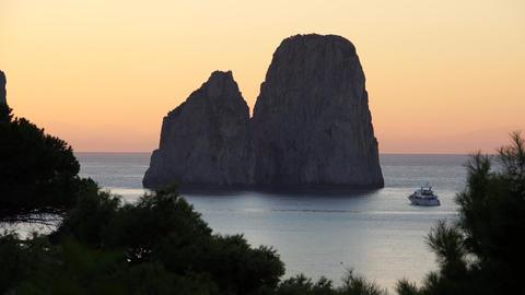 Scenes of the Faraglioni near the Isle of Capri (5 of 5) Footage
