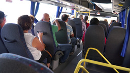 Scenes from a bus ride along the Amalfi Coast (2 of 4) Footage