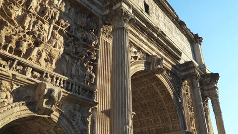 Scenes of the Arch of Titus in Rome (7 of 7) Footage