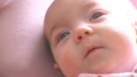 Close Baby Girl stock footage