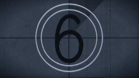 countdown leader blue tinted j Footage