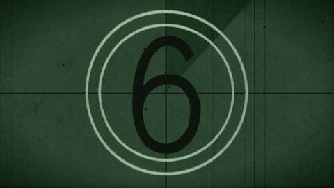 countdown leader green tinted Footage
