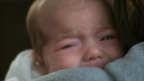 Crying Infant 1 1 stock footage