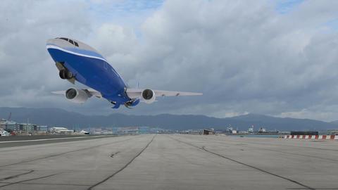Takeoff Point passenger aircraft. Blu Footage