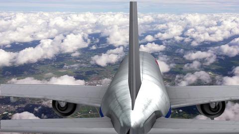Landing Aeroplan stock footage