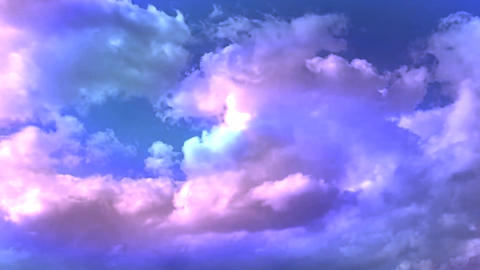 Beautiful Rainbow Cloud Motion HD Footage